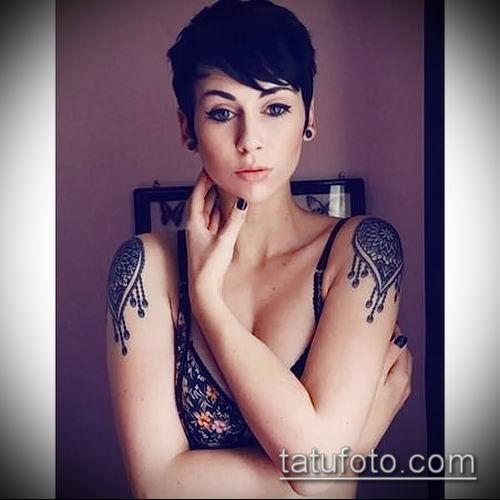 фото тату погон (tattoo epaulettes) (значение) - пример рисунка - 050 tatufoto.com