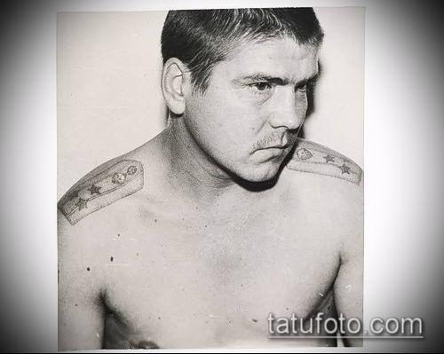 фото тату погон (tattoo epaulettes) (значение) - пример рисунка - 060 tatufoto.com