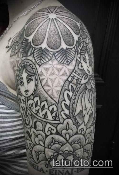 фото тату погон (tattoo epaulettes) (значение) - пример рисунка - 066 tatufoto.com