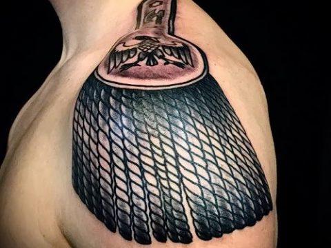фото тату погон (tattoo epaulettes) (значение) - пример рисунка - 068 tatufoto.com