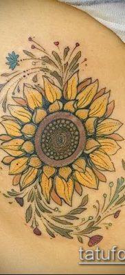 фото тату подсолнух (значение) – пример интересного рисунка тату – 054 tatufoto.com