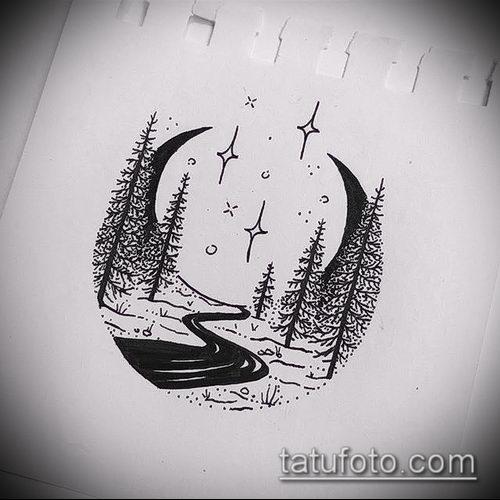 фото тату полумесяц (значение) - пример интересного рисунка тату - 032 tatufoto.com