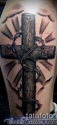 фото тату распятие (crucifix tattoo) (значение) – пример рисунка – 006 tatufoto.com