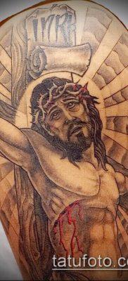 фото тату распятие (crucifix tattoo) (значение) – пример рисунка – 007 tatufoto.com