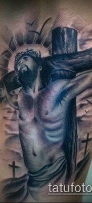 фото тату распятие (crucifix tattoo) (значение) – пример рисунка – 009 tatufoto.com