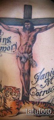 фото тату распятие (crucifix tattoo) (значение) – пример рисунка – 015 tatufoto.com