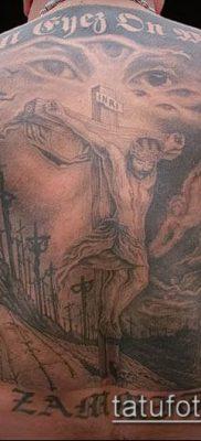 фото тату распятие (crucifix tattoo) (значение) – пример рисунка – 017 tatufoto.com