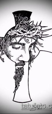 фото тату распятие (crucifix tattoo) (значение) – пример рисунка – 021 tatufoto.com
