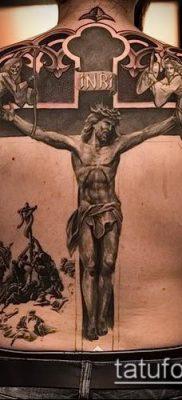 фото тату распятие (crucifix tattoo) (значение) – пример рисунка – 029 tatufoto.com