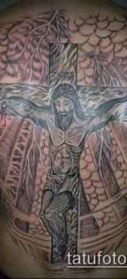 фото тату распятие (crucifix tattoo) (значение) – пример рисунка – 036 tatufoto.com