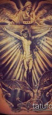фото тату распятие (crucifix tattoo) (значение) – пример рисунка – 045 tatufoto.com