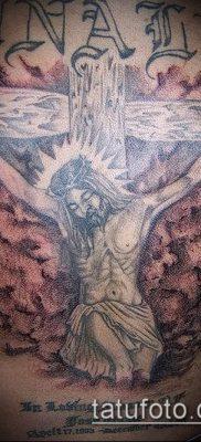 фото тату распятие (crucifix tattoo) (значение) – пример рисунка – 054 tatufoto.com