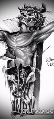 фото тату распятие (crucifix tattoo) (значение) – пример рисунка – 060 tatufoto.com
