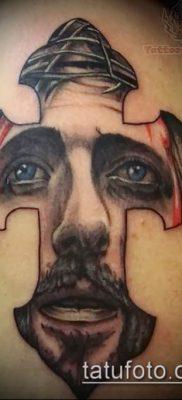 фото тату распятие (crucifix tattoo) (значение) – пример рисунка – 061 tatufoto.com