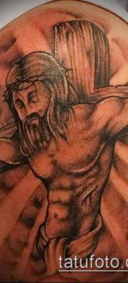 фото тату распятие (crucifix tattoo) (значение) – пример рисунка – 068 tatufoto.com
