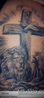 фото тату распятие (crucifix tattoo) (значение) – пример рисунка – 069 tatufoto.com