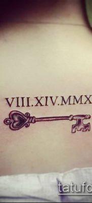 фото тату римские цифры (roman numerals) (значение) – пример рисунка – 085 tatufoto.com