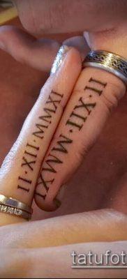 фото тату римские цифры (roman numerals) (значение) – пример рисунка – 090 tatufoto.com