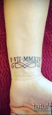 фото тату римские цифры (roman numerals) (значение) – пример рисунка – 100 tatufoto.com