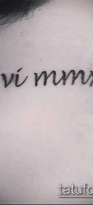 фото тату римские цифры (roman numerals) (значение) – пример рисунка – 104 tatufoto.com