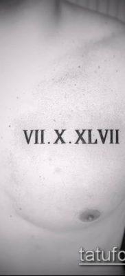 фото тату римские цифры (roman numerals) (значение) – пример рисунка – 107 tatufoto.com