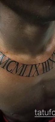 фото тату римские цифры (roman numerals) (значение) – пример рисунка – 115 tatufoto.com