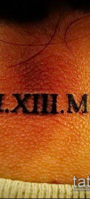 фото тату римские цифры (roman numerals) (значение) – пример рисунка – 116 tatufoto.com