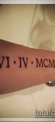 фото тату римские цифры (roman numerals) (значение) – пример рисунка – 120 tatufoto.com