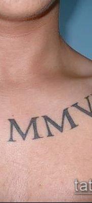 фото тату римские цифры (roman numerals) (значение) – пример рисунка – 127 tatufoto.com