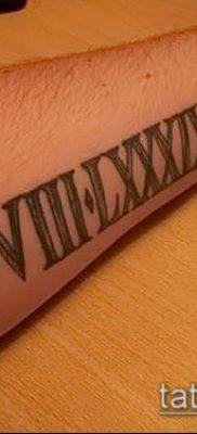 фото тату римские цифры (roman numerals) (значение) – пример рисунка – 139 tatufoto.com