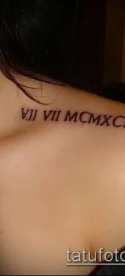 фото тату римские цифры (roman numerals) (значение) – пример рисунка – 150 tatufoto.com