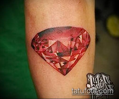 фото тату рубин (ruby tattoo) (значение) - пример рисунка - 003 tatufoto.com