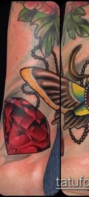фото тату рубин (ruby tattoo) (значение) – пример рисунка – 010 tatufoto.com