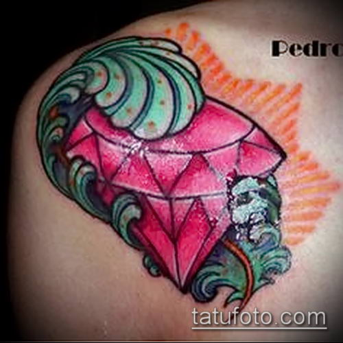фото тату рубин (ruby tattoo) (значение) - пример рисунка - 018 tatufoto.com