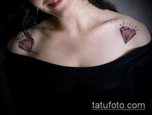 фото тату рубин (ruby tattoo) (значение) - пример рисунка - 024 tatufoto.com