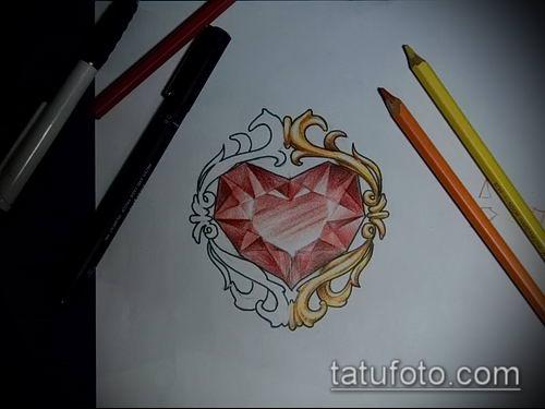 фото тату рубин (ruby tattoo) (значение) - пример рисунка - 027 tatufoto.com