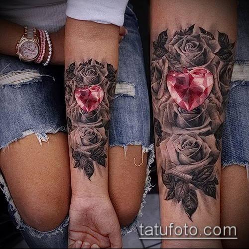 фото тату рубин (ruby tattoo) (значение) - пример рисунка - 041 tatufoto.com