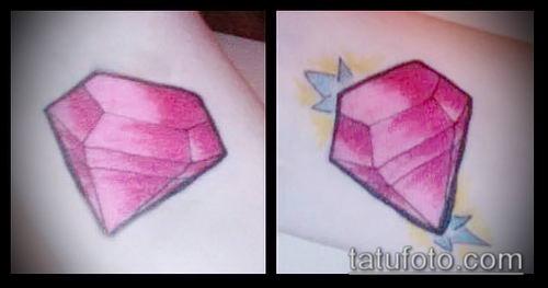 фото тату рубин (ruby tattoo) (значение) - пример рисунка - 046 tatufoto.com