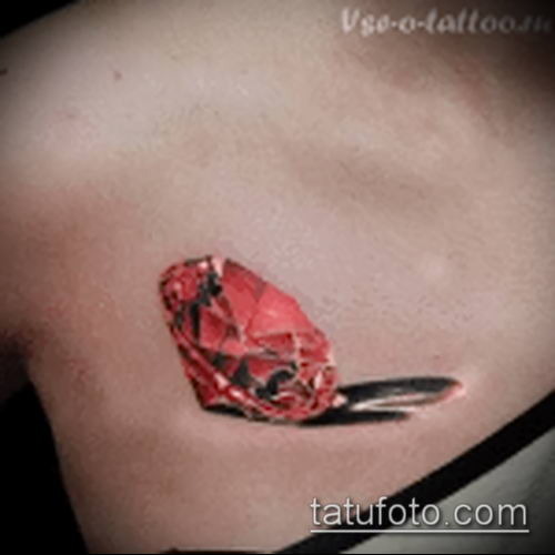 фото тату рубин (ruby tattoo) (значение) - пример рисунка - 062 tatufoto.com