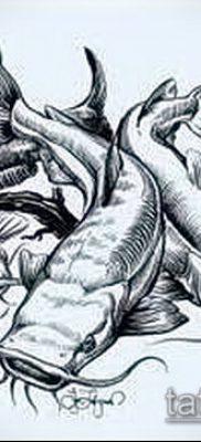 фото тату сом (catfish tattoo) (значение) – пример рисунка – 008 tatufoto.com