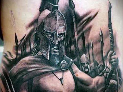 фото тату спартанец (tattoo Spartan) (значение) - пример рисунка - 039 tatufoto.com