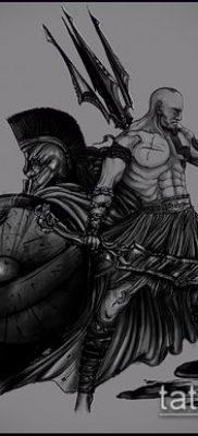 фото тату спартанец (tattoo Spartan) (значение) – пример рисунка – 047 tatufoto.com