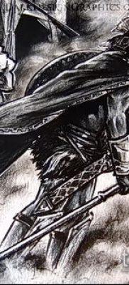 фото тату спартанец (tattoo Spartan) (значение) – пример рисунка – 057 tatufoto.com