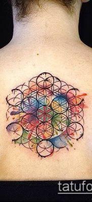 фото тату цветок жизни (Tattoo Flower of Li) (значение) – пример рисунка – 002 tatufoto.com