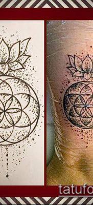 фото тату цветок жизни (Tattoo Flower of Li) (значение) – пример рисунка – 006 tatufoto.com