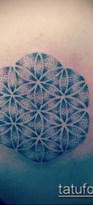 фото тату цветок жизни (Tattoo Flower of Li) (значение) – пример рисунка – 007 tatufoto.com
