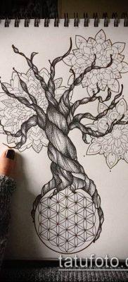 фото тату цветок жизни (Tattoo Flower of Li) (значение) – пример рисунка – 013 tatufoto.com