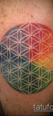 фото тату цветок жизни (Tattoo Flower of Li) (значение) – пример рисунка – 015 tatufoto.com