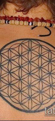 фото тату цветок жизни (Tattoo Flower of Li) (значение) – пример рисунка – 019 tatufoto.com