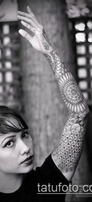 фото тату цветок жизни (Tattoo Flower of Li) (значение) – пример рисунка – 028 tatufoto.com